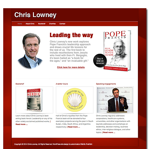 Chris Lowney author