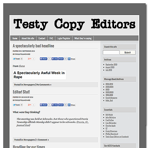 Testy Copy Editors