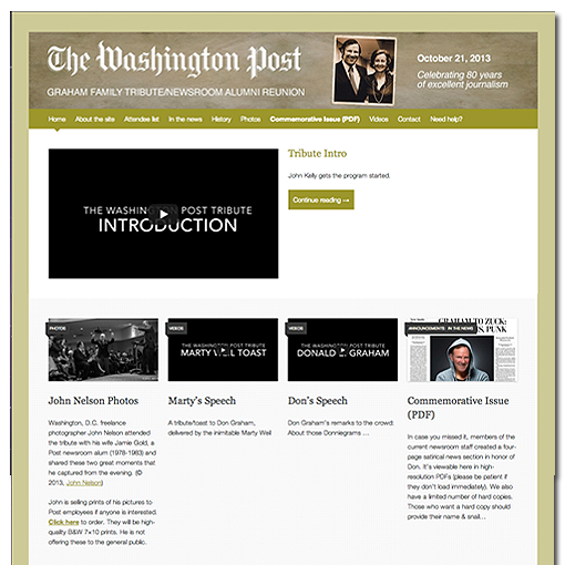 The Washington Post Newsroom Alumni Site