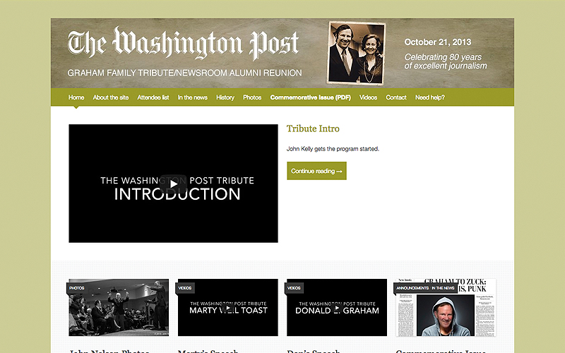 The Washington Post Newsroom Alumni Site